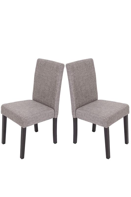 58044b822c1d Jedálenská stolička Litta sivá látka (SET 2 ks)