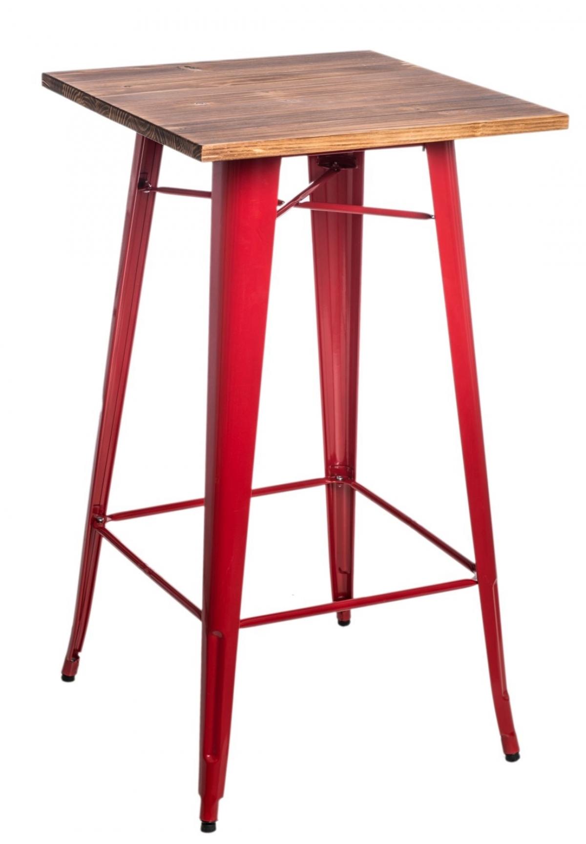 842fe2aca2f0 ... Kovový barový stôl Paris s drevenou doskou