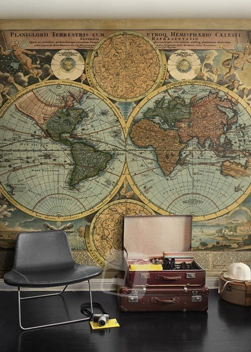 Vliesová tapeta Mr Perswall - World Map 315 x 265 cm