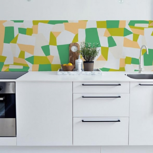 Kuchynská tapeta zástena KitchenWalls - Design Collection SCM001 (300 x 60 cm)