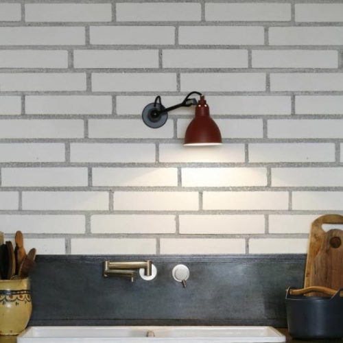 Kuchynská tapeta KitchenWalls - Stylish white bricks 1442 H