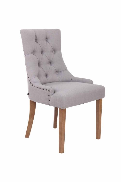 ee341cd274e64 Jedálenská stolička Aberdeen látka, drevené nohy antik svetlé