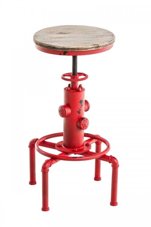 cdb17dd2b16e Kovová barová stolička Lumo v industriálnom štýle