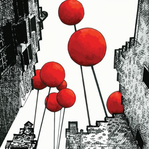Vliesová tapeta Mr Perswall - Balloon City 225 x 265 cm