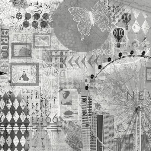 Vliesová tapeta Mr Perswall - Graphic moments BW 495 x 265 cm