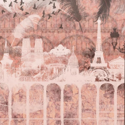 Vliesová tapeta Mr Perswall - Plume Paris - Rose 450 x 265 cm